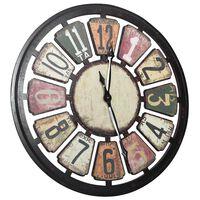 vidaXL Ρολόι Τοίχου Πολύχρωμο 80 εκ. από MDF