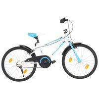 vidaXL Ποδήλατο Παιδικό Μπλε / Λευκό 20 Ιντσών
