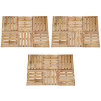 vidaXL Πλακάκια Deck 18 τεμ. Καφέ 50 x 50 εκ. Ξύλινα