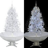 vidaXL Χριστουγεννιάτικο Δέντρο που Χιονίζει Λευκό 170 εκ. με Βάση