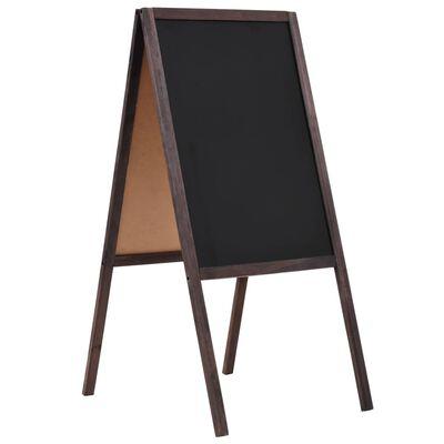 vidaXL Μαυροπίνακας Επιδαπέδιος Διπλής Όψης 40x60 εκ. από Ξύλο Κέδρου