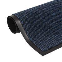 vidaXL Πατάκι Απορροφητικό Σκόνης Ορθογώνιο Μπλε 60 x 90 εκ. Θυσανωτό