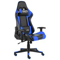 vidaXL Καρέκλα Gaming Περιστρεφόμενη Μπλε PVC