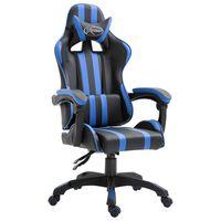 vidaXL Καρέκλα Gaming Μπλε από Συνθετικό Δέρμα