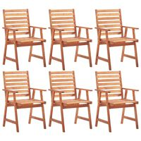 vidaXL Καρέκλες Τραπεζαρίας Εξωτερικού Χώρου 6 τεμ. Μασίφ Ξύλο Ακακίας