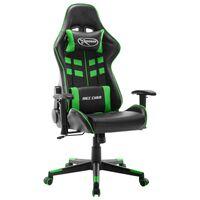 vidaXL Καρέκλα Gaming Μαύρο / Πράσινο από Συνθετικό Δέρμα