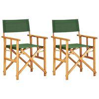 vidaXL Καρέκλες Σκηνοθέτη 2 τεμ. Πράσινες από Μασίφ Ξύλο Ακακίας