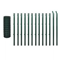 vidaXL Συρματόπλεγμα Σετ Πράσινο 25 x 1,0 μ. Ατσάλινο