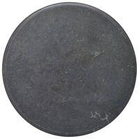 vidaXL Επιφάνεια Τραπεζιού Μαύρη Ø70 x 2,5 cm Μαρμάρινη