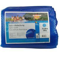 Summer Fun Κάλυμμα Πισίνας Καλοκαιρινό Ηλιακό Στρογγυλό Μπλε 350 εκ PE