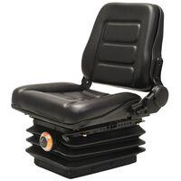 vidaXL Κάθισμα Περονοφόρου Ανυψωτικού/Τρακτέρ με Ανάρτηση & Ρυθμ.Πλάτη