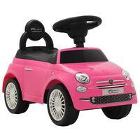 vidaXL Περπατούρα Fiat 500 Ροζ