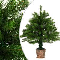 vidaXL Χριστουγεννιάτικο Δέντρο με Αληθοφανείς Βελόνες Πράσινο 65 εκ.
