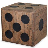 vidaXL Κουτί Αποθήκευσης Σχέδιο Ζάρι 40 x 40 x 40 εκ. από Ξύλο Mindi