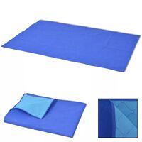 vidaXL Κουβέρτα για Πικ-Νικ Μπλε και Γαλάζια 100 x 150 εκ.