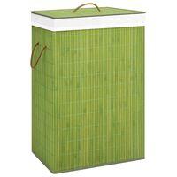 vidaXL Καλάθι Απλύτων Πράσινο 72 Λίτρα από Μπαμπού