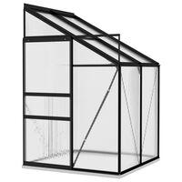vidaXL Greenhouse Anthracite Aluminium 2,7 m³