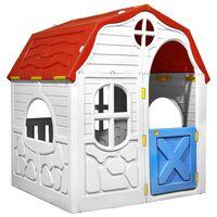 vidaXL Σπιτάκι Παιδικό Πτυσσόμενο με Πόρτα και Παράθυρα