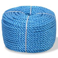 vidaXL Σχοινί Στριφτό Μπλε 6 χιλ. 200 μ. από Πολυπροπυλένιο