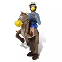 Αποκριάτικη στολή Καουμπόι με άλογο Φουσκωτή