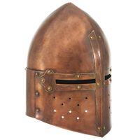 vidaXL Κράνος Ιππότη Μεσαιωνικό Ρέπλικα Αντικέ για LARP Χρώμα Χαλκού