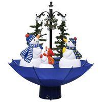 vidaXL Χριστουγεννιάτικο Δέντρο που Χιονίζει Μπλε 75 εκ. PVC με Βάση