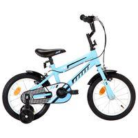 vidaXL Ποδήλατο Παιδικό Μαύρο / Μπλε 14 Ιντσών