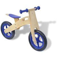 vidaXL Ποδήλατο Ισορροπίας Μπλε Ξύλινο
