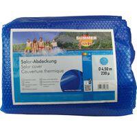 Summer Fun Κάλυμμα Πισίνας Καλοκαιρινό Ηλιακό Στρογγυλό Μπλε 450 εκ PE