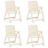 vidaXL Καρέκλες Κήπου 4 τεμ. Λευκές Πλαστικές