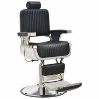 vidaXL Πολυθρόνα Κουρείου Μαύρη 68 x 69 x 116 εκ. από Συνθετικό Δέρμα