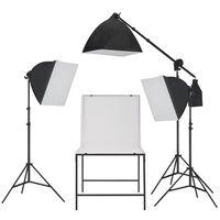 vidaXL Κιτ Φωτισμού Softbox Φωτογραφικού Στούντιο με Shooting Table