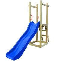 vidaXL Παιδικό Σπιτάκι με Τσουλήθρα & Σκάλα 237x60x175 εκ. Ξύλο Πεύκου