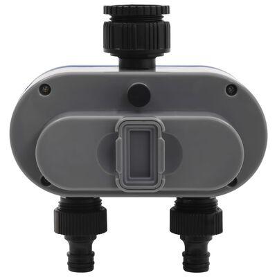vidaXL Χρονοδιακόπτης Ποτίσματος Με Διπλή Έξοδο & Αισθητήρα Υγρασίας