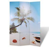vidaXL Διαχωριστικό Δωματίου Πτυσσόμενο Παραλία 120 x 170 εκ.