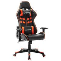 vidaXL Καρέκλα Gaming Μαύρη / Πορτοκαλί από Συνθετικό Δέρμα