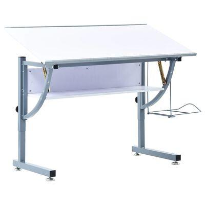 vidaXL Γραφείο Σχεδιαστήριο για Εφήβους Λευκό 110x60x87 εκ. από MDF