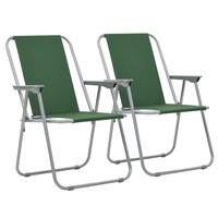 vidaXL Καρέκλες Camping Πτυσσόμενες 2 τεμ. Πράσινες 52 x 59 x 80 εκ.