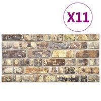 vidaXL Πάνελ Τοίχου 3D 11 τεμ. Σχέδιο Τούβλα Πολύχρωμο EPS