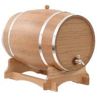vidaXL Βαρέλι Κρασιού 35 Λίτρων από Μασίφ Ξύλο Δρυός με Κάνουλα