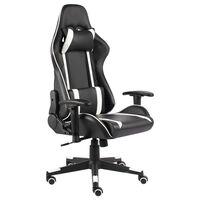 vidaXL Καρέκλα Gaming Περιστρεφόμενη Λευκή από PVC