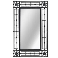 vidaXL Καθρέφτης Τοίχου Ορθογώνιος Μαύρος 50 x 80 εκ.