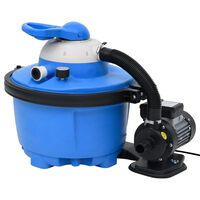 vidaXL Αντλία με Φίλτρο Άμμου Μπλε & Μαύρο 385x620x432 χιλ. 200 W 25 L