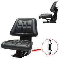 vidaXL Κάθισμα Τρακτέρ με Ανάρτηση Μαύρο