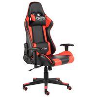 vidaXL Καρέκλα Gaming Περιστρεφόμενη Κόκκινη PVC