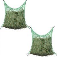 vidaXL Δίχτυα Σανού Τετράγωνο Πλέγμα 2 τεμ. 0,9 x 1 μ. Πολυπροπυλένιο
