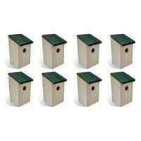 vidaXL Φωλιές Πουλιών 8 τεμ. 12 x 12 x 22 εκ. Ξύλινες