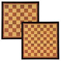 Abbey Game Σκακιέρα / Νταμιέρα Καφέ / Μπεζ 41 x 41 εκ. Ξύλινη