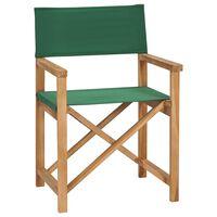 vidaXL Καρέκλα Σκηνοθέτη Πτυσσόμενη Πράσινη από Μασίφ Ξύλο Teak
