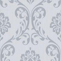 vidaXL Non Woven Ρολά Ταπετσαρίας Ornament 2 τεμ. Λευκά 0,53 x 10 μ.